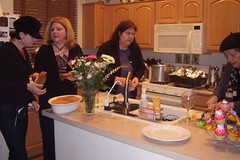 122008-03 Curt and Gennies 10th Anniversary women in the kitchen
