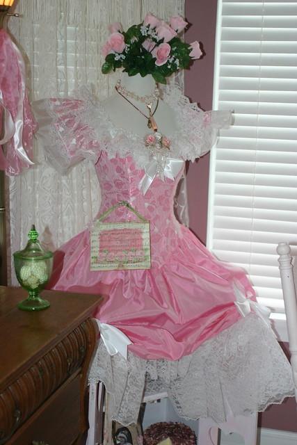 pink roses corner vintage cabinet lace cottage victorian romantic decor vignette whimsical pinkgreen vintageclothes dressform pinkroses vintagecottage shabbychic vintagedress pinklace