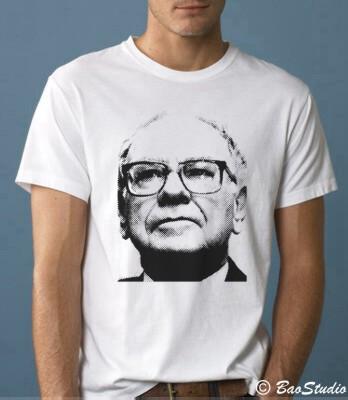 Warren Buffett - Pop Art Graphic T-shirts by Baostudio