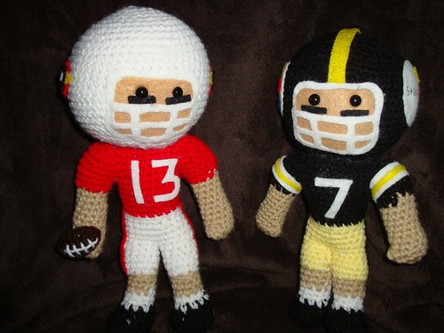 Cardinals vs Steelers 2009 Owlishly Football Star pattern