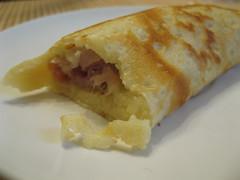 Prosciutto and Provolone Crêpe