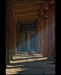 Corridor (Ajith ()) Tags: light shadow sculpture brown sun india building texture temple photography corridor u karnataka coloured clicks ajith lepakshi ajithkumar ajithu uajith colouredclicks ajithphotography ajithuuphotography ajithuphotography colouredclickscom coloredcicks coloredclicks ajithuwordpresscom ajithkumaru