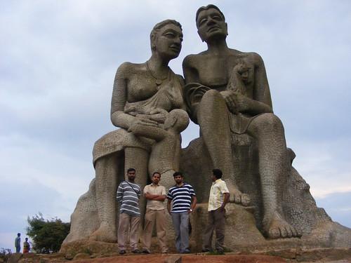 The Statue of Head of the Mountain Tribes (Kuravan & Kurathi)