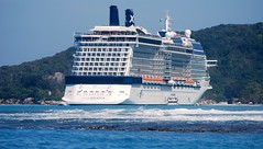 Cruise ship - Celebrity Solstice (blmiers2) Tags: ocean travel cruise blue sea water beautiful geotagged haiti nikon ship solstice photograph views cruiseship faves labadee d40x celebritysolstice 200902 blm18 blmiers2