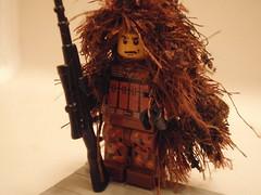 Lego Sniper - Ghillie Suit (John_0515) Tags: lego sniper custom decals brickarms