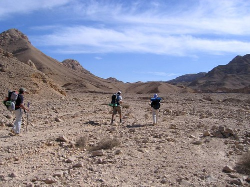 Setting off on a riverbed