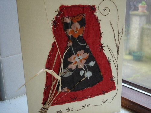 Collage & stitched card