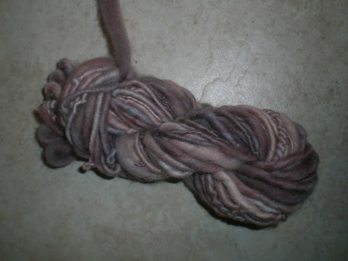Purple Handspun, Hand dyed Yarn