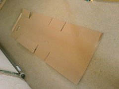 Flattened box
