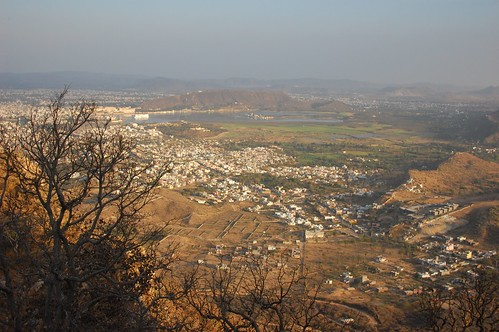looking down on Udaipur