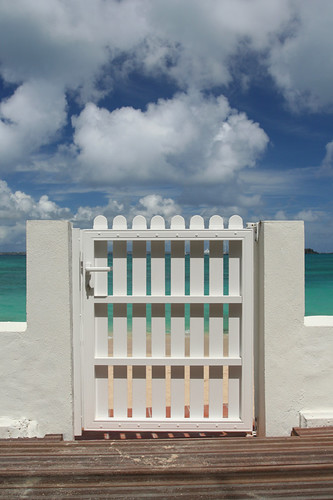 our gate to Grand Case beach