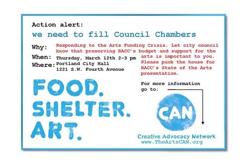 Creative Advocacy Network, portland, oregon
