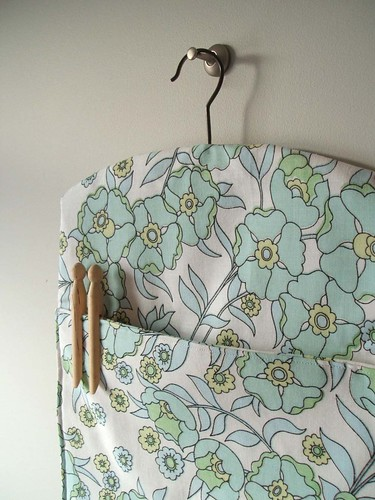 recycled fabric peg bag