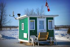 The comforts of home... on ice! (Vince Alongi) Tags: canada ice river fishing nikon ottawa d200