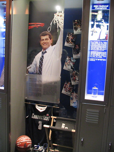 UConn Women's Display at the Basketball Hall of Fame