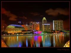 Marina Bay - Dressed with lights !! (AnoopaJoshi) Tags: singapore esplanade nightlife hdr marinabay marinamandarin