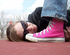Discombobulation (sp?) (BREananicOLE) Tags: shoes converse hightops kicks allstar chucks chucktaylors allstars strictlypinkconverse