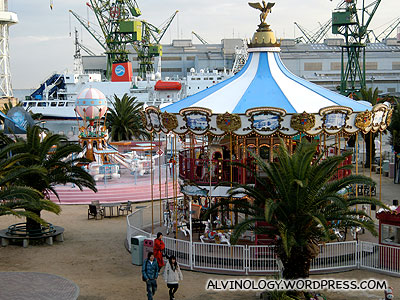 Various amusement rides available at Mosaic Garden