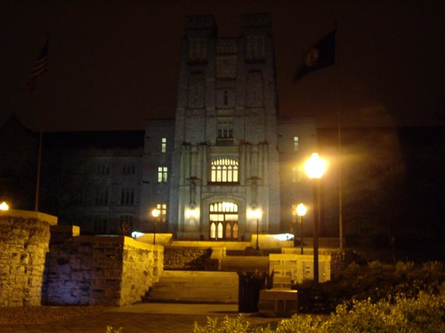 Burruss Hall at Night