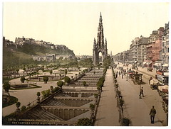 [Princess (i.e. Princes) Street, the castle, and Scott Monument, Edinburgh, Scotland] (LOC)