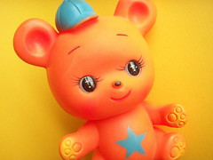 Kawaii Vintage Japan Rubber Doll Squeak Bear Japanese Toy 70s (Kawaii Japan) Tags: bear old orange baby cute japan kids vintage children toy japanese doll child retro kawaii 70s aged 1970s rare squeak dimestore hardtofind rubberdoll hardtoget showaera