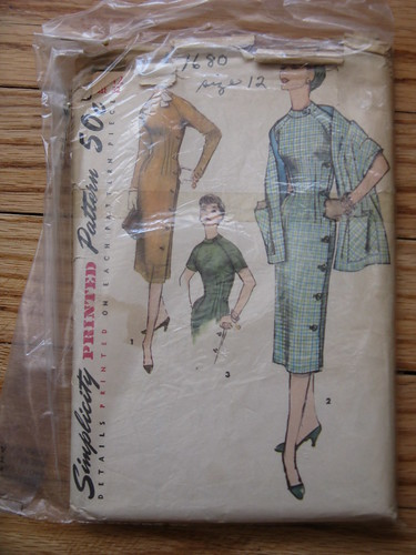vintage pattern-fitted dress