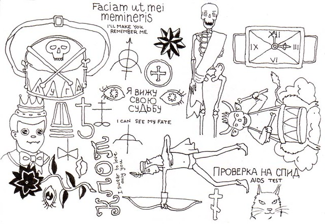 Russian Criminal Tattoos. based from the pages of a Russian criminal tattoo