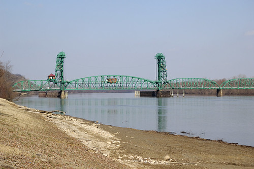 The Joe Page Bridge over the Illinois River, in Hardin, Illinois, USA
