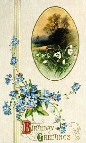 flowers blue b-day
