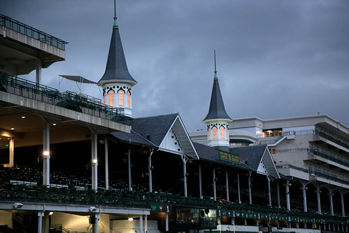 churchill downs at dusk by tazman61.