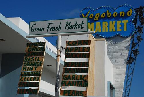 market signs at vagabond market