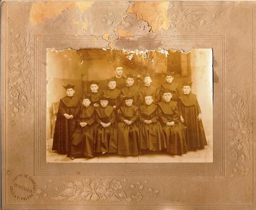 Alumnos del Colegio de Infantes (Toledo) en 1906