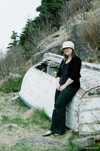 Jennifer with the Old Boat