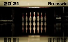 Reflected! (Marios Tziortzis) Tags: uk red england brown black yellow reflections dark fun 50mm spectrum 21 low bowl pins brunswick surrey bowling strike 20 guildford 1337 unis 2021
