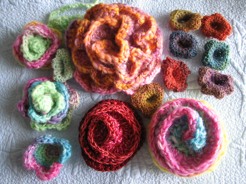 using Nicki Epstein's Crocheted Flowers book