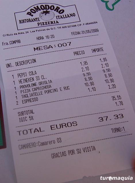 Restaurante Pomodor Gran Canaria