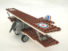 Sopwith Camel forward quarter (Lego Monster) Tags: airplane fighter lego wwi aeroplane sopwith biplane worldwar1 armyaircorps sopwithcamel
