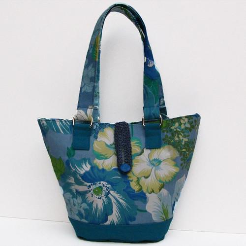 Ashley Bag in Liz Claiborne Blue Floral Print