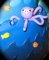 fondant octopus (two parts sugar) Tags: ocean fish cupcakes stingray crab sealife dora octopus missionviejo orangecounty mermaid underthesea