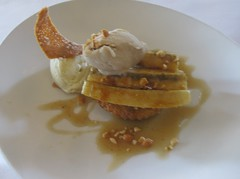 One Market - Roasted Bananas with Peanut butter and Vanilla Ice cream