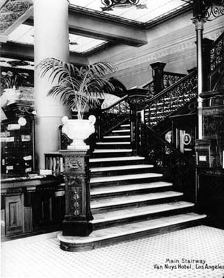 103 w 4th street van nuys hotel stairway LAPL collection