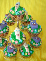 dora the explorer themed cupcakes (The Whole Cake and Caboodle ( lisa )) Tags: flowers newzealand party cupcakes stand map dora cupcake backpack vanilla whangarei caboodle fondanttoppers thewholecakeandcaboodle