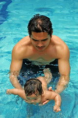Fatherhood (Gilbert Rondilla) Tags: camera boy shirtless portrait people baby selfportrait man male guy slr love me pool face digital swimming swim self myself daddy asian photo nikon infant dad child d70 body father philippines ama manila gilbert papa filipino fatherandson fathersday dslr ako fatherhood notmycamera hombre own pinoy homme physique borrowedcamera homen waterbaby tatay rondilla notmyowncamera platinumheartaward gilbertrondilla gilbertrondillaphotography luisianian gettyimagescollection familygetty2010