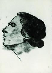 Ron B. Kitaj: La Pasionaria, 1969. Óleo sobre lienzo, 42,5 x 31,8 cm.