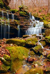 Mossy Falls (photogg19) Tags: creek river waterfall nikon stream arkansas ozark buffalonationalriver boxley ponca lostvalley d40 elitephotography mossyfalls