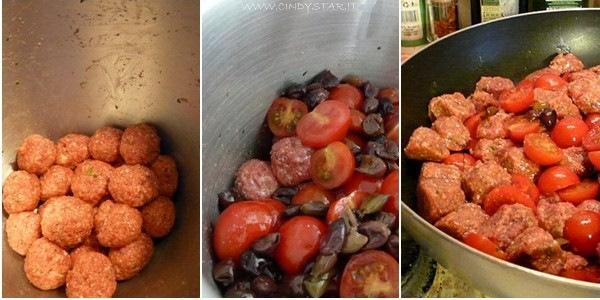 polpettine pomodorini olive