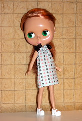 Sunny models a second Pillowcase dress
