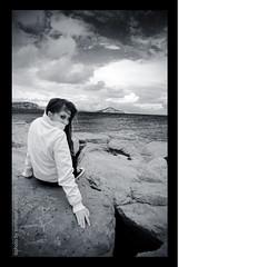 Marilena (Illusiontom) Tags: portrait sky panorama girl beauty landscape island nikon rocks mare bn tokina cielo rocce ritratto procida biancoenero isola marilena 1116 illusiontom d300s
