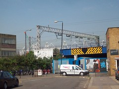 Carpenters Road Entrance - London 2012 Olympic Site (Andy Wilkes) Tags: road roof building london cup cake danger work landscape site construction crane stadium centre entrance land olympic olympics scape stratford 2012 carpenters aquatics londonist