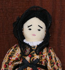 Nina (Crazyquilter) Tags: nina americangirl clothdoll 5inches 13cm dollcensus crazyquilter crazyquiltersdollcensus